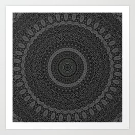 blackwhite mandala Art Print