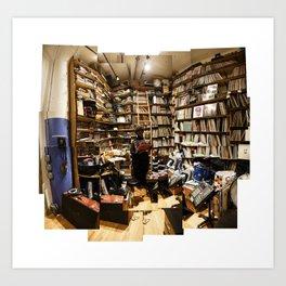 "Ahmir ""Questlove"" Thompson browsing through his vinyl collection Art Print"