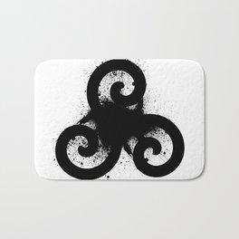 Triskele Black Bath Mat