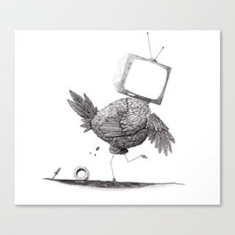 Some Chickens be Like Canvas Print