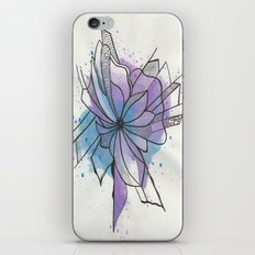Explosion Flower Blue and Purple iPhone & iPod Skin