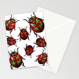 Agitated Lady Beetles Stationery Cards