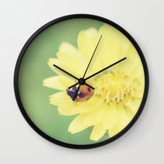 A Flower for My Lady Wall Clock