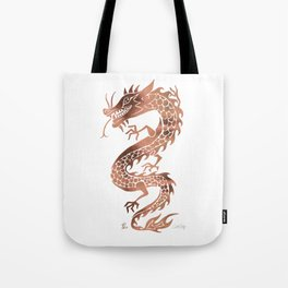 Chinese Dragon – Rose Gold Palette Tote Bag