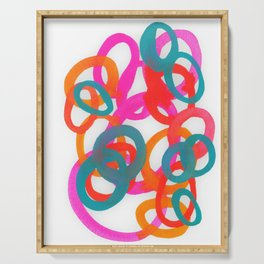 Happy bright swirls Serving Tray