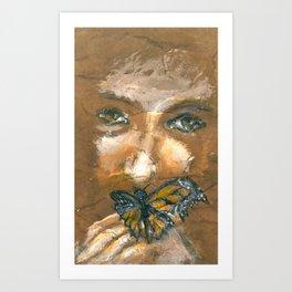 Tattered Wings Art Print