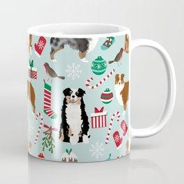 Australian Shepherd christmas festive holiday dog breed gifts for holidays Coffee Mug