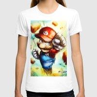 super mario T-shirts featuring Super Mario by markclarkii