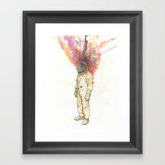 Astronaut colors shower Framed Art Print