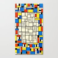 mondrian Canvas Prints featuring Mondrian by PureVintageLove