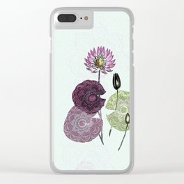 Bowing to the divine in pink Clear iPhone Case