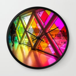 Walking in color Wall Clock