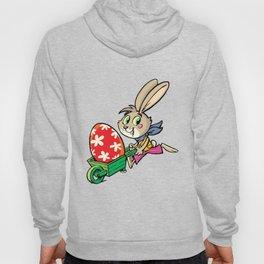 Rabbit pushes the egg Hoody