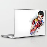zombie Laptop & iPad Skins featuring Zombie by Camille Ratté