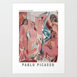 Les demoiselles d'Avignon - Pablo Picasso - Art Poster Art Print
