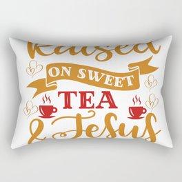 Raised On Sweet Tea And Jesus Rectangular Pillow