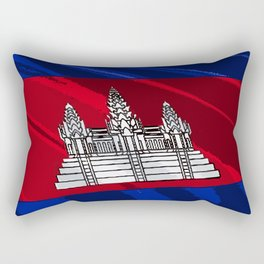Cambodia Fancy Flag Rectangular Pillow