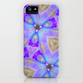 Ultra Violet Sacred Geometry iPhone Case