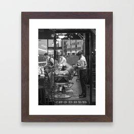 London barber - beard shave Framed Art Print