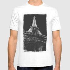 La Tour Eiffel MEDIUM Mens Fitted Tee White