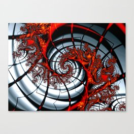Fractal Art - Burning Web Canvas Print