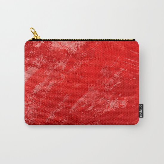 Love And Fury - Abstract painting in red Carry-All Pouch