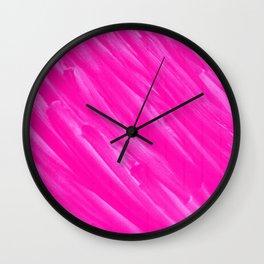 Hot Pink Happiness Wall Clock