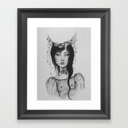 Little Moon Framed Art Print