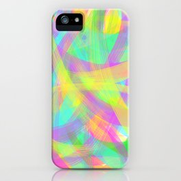 Abstract Neon Brush Stroke iPhone Case
