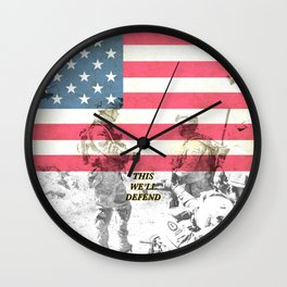 US Army Armed Forces USA Wall Clock