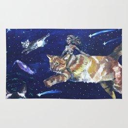 Cat Warrior of Space Rug