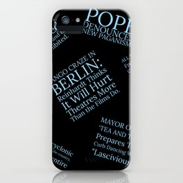 1913: The Year of the Scandalous Tango! iPhone Case