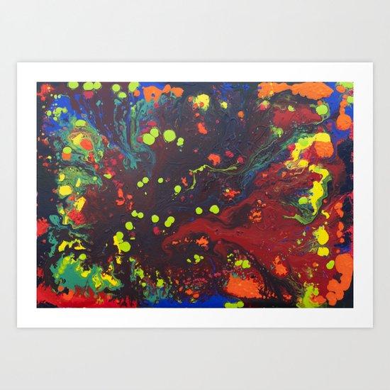 Abstract drops. Art Print