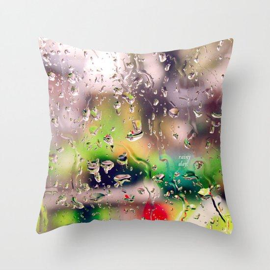 Rainy day! Throw Pillow