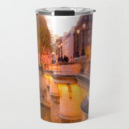 Paris Pont Neuf at Dusk Travel Mug
