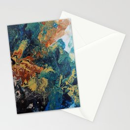 The Colorful Side Of The Moon Stationery Cards