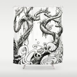 Epiphycadia III: Bracket Fungi Shower Curtain