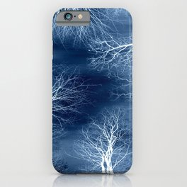 Midnight Trees Classic Blue iPhone Case