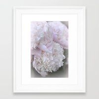 peonies Framed Art Prints featuring Peonies by DuniStudioDesign