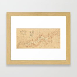 Vintage Map of Yosemite Valley (1907) Framed Art Print