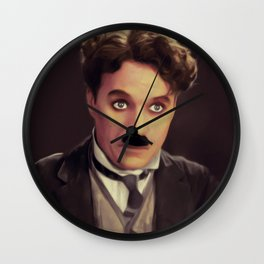 Charlie Chaplin, Hollywood Legend Wall Clock