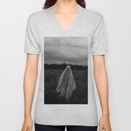 Ghost in the Field - Tall Unisex V-Neck