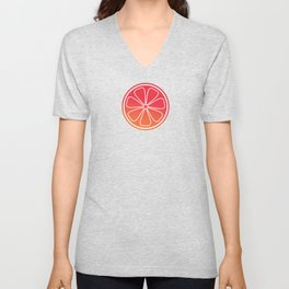 Citrus slices (red/orange) Unisex V-Neck