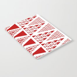 Zig Zag Pattern -  brick red Notebook