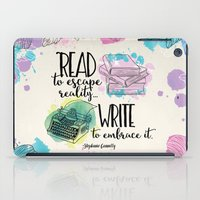 write iPad Cases featuring Write to Embrace design by Evie Seo