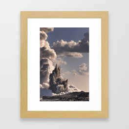 Kilauea Volcano at Kalapana 3b Framed Art Print