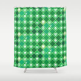 The Nik-Nak Bros. Veggie Greene Shower Curtain