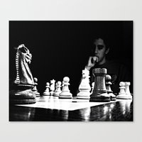 chess Canvas Prints featuring Chess by Twisted Action