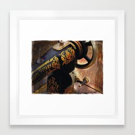 Antique Sewing Machine Framed Art Print