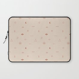 Southwestern Symbolic Pattern in Coral & Cream Laptop Sleeve